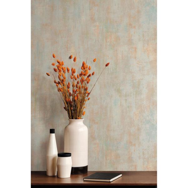 Antonina Vella Elegant Earth Silver Rust Concrete Patina Textures Wallpaper, image 4