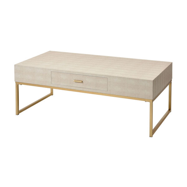 Les Revoires Cream with Gold Coffee Table, image 1