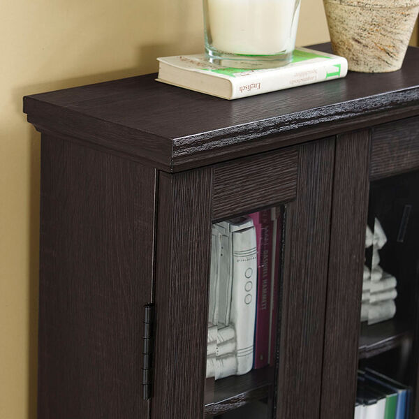 41-inch Espresso Wood Media Tower Cabinet, image 2