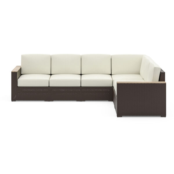 Palm Springs Brown Patio Six-Seat Sectional, image 3