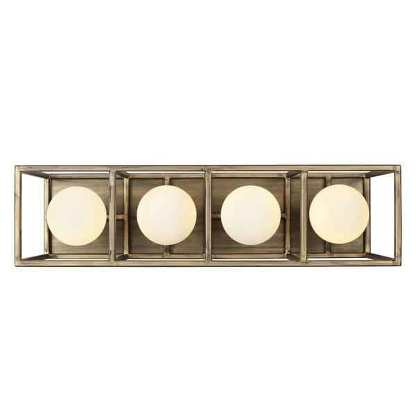 Plaza Havana Gold And Carbon Four-Light LED ADA Bath Vanity, image 6