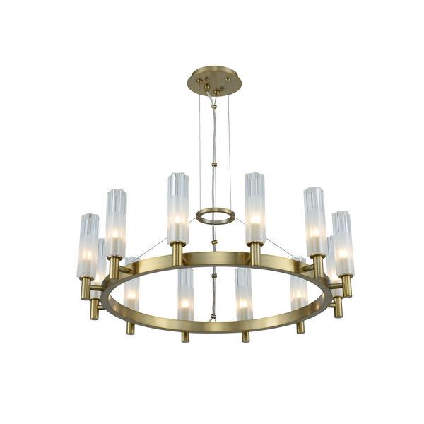 Lorne Winter Brass 12-Light LED Chandelier, image 1