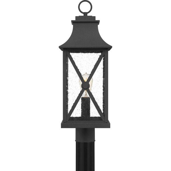 Ellerbee Mottled Black One-Light Outdoor Post Mount, image 3