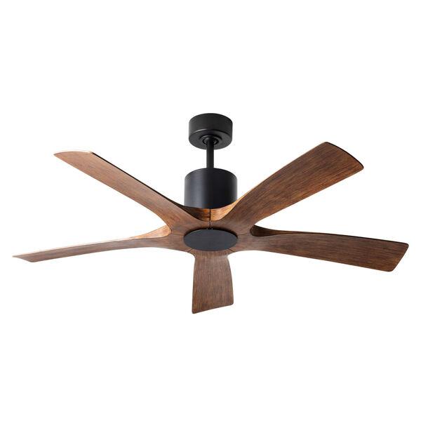 Aviator Matte Black and Distressed Koa 54-Inch ADA LED Ceiling Fan, image 1