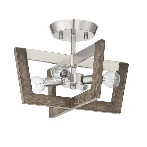 Westend Satin Platinum Four-Light Semi-Flush, image 2