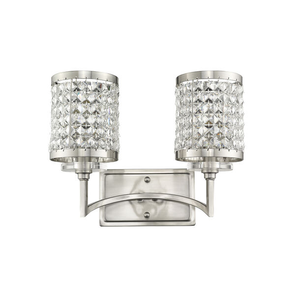 Grammercy Brushed Nickel 14.5-Inch Two-Light Bath Light, image 5