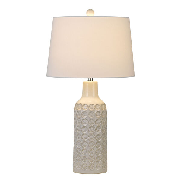 Regina Gray and White One-Light Table lamp, image 3