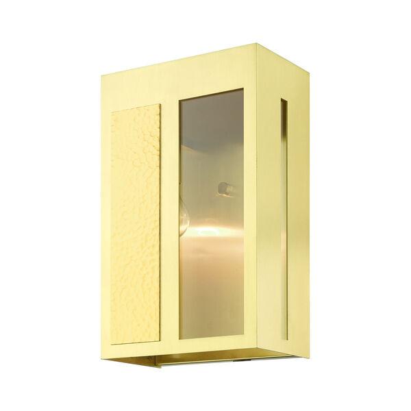 Lafayette Satin Brass One-Light Outdoor Wall Lantern, image 4
