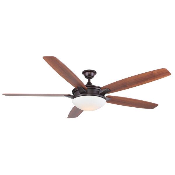 Novato Oil Rubbed Bronze 70-Inch LED Ceiling Fan, image 1