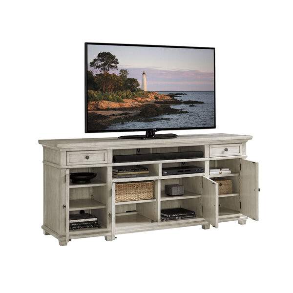 Oyster Bay White Kings Point Large Media Console, image 3