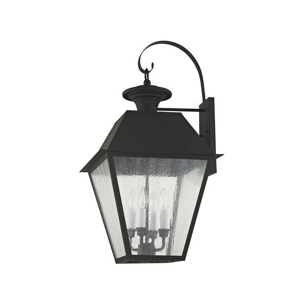 Mansfield Black Four-Light Outdoor Wall Lantern, image 5