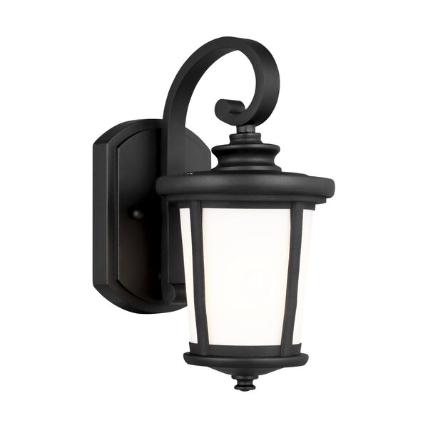 Eddington Black One-Light Outdoor Wall Sconce with Cased Opal Etched Shade, image 2