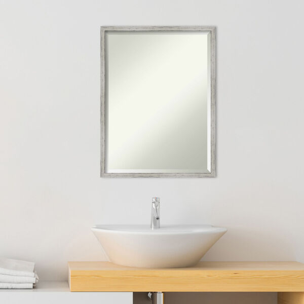 Shiplap White 19W X 25H-Inch Bathroom Vanity Wall Mirror, image 3