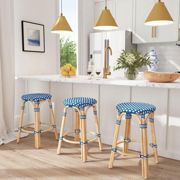 Tobias Sky Blue 16-Inch Round Counter Stool, image 8