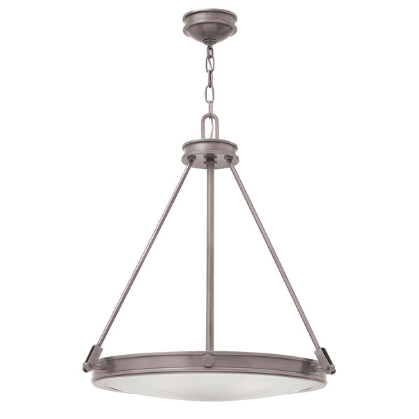 Collier Antique Nickel 22-Inch Four-Light Inverted Pendant, image 1