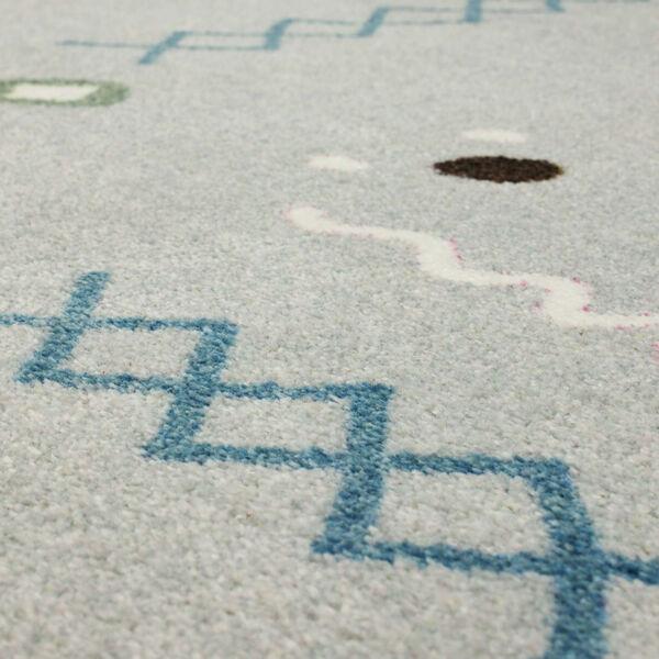 Tolani Gray Light Blue Abstract Rectangular: 2 Ft. x 3 Ft. Area Rug, image 6