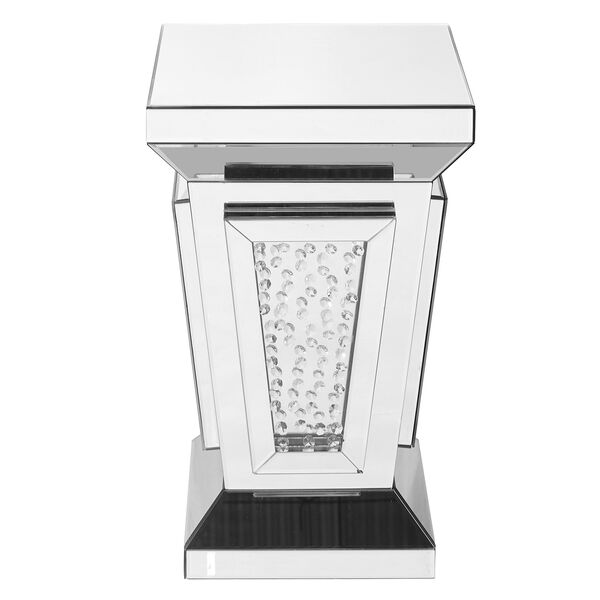 Modern Mirrored 24-Inch Contemporary Crystal End Table, image 1