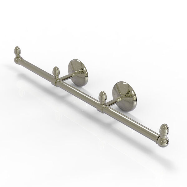 Monte Carlo Polished Nickel Four-Inch Three Arm Guest Towel Holder, image 1