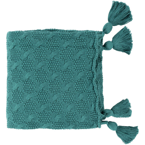 India Teal 37 x 60 Inch Throw, image 1