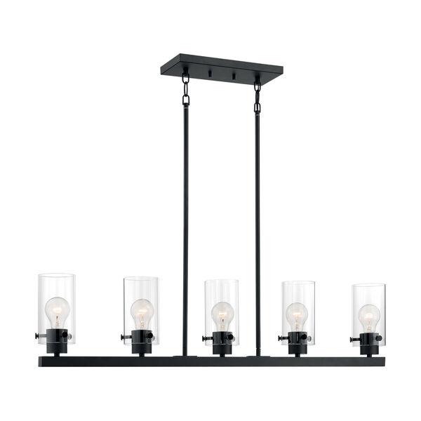 Sommerset Matte Black Five-Light Pendant, image 1