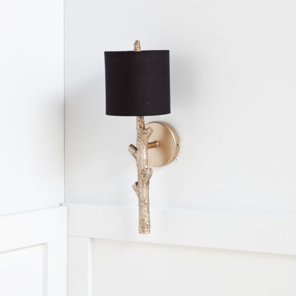 Sabinal II Black and Gold One-Light Wall Sconce, image 2