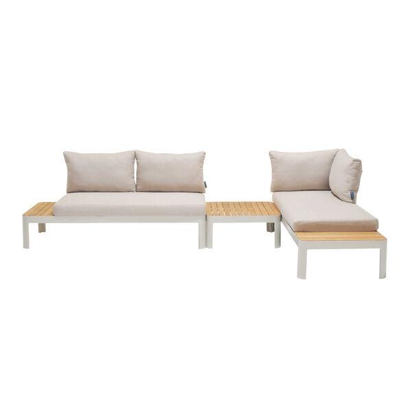 Portals Teak Matte Sand Three-Piece Outdoor Furniture Set, image 1