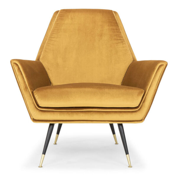 Vanessa Mustard and Black Occasional Chair, image 2