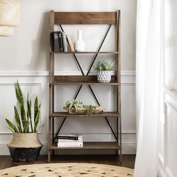 Brown 68-Inch Bookshelf, image 3