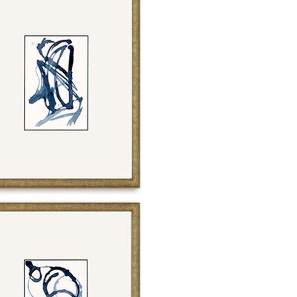 Mayhem II Blue Framed Art, Set of Three, image 3