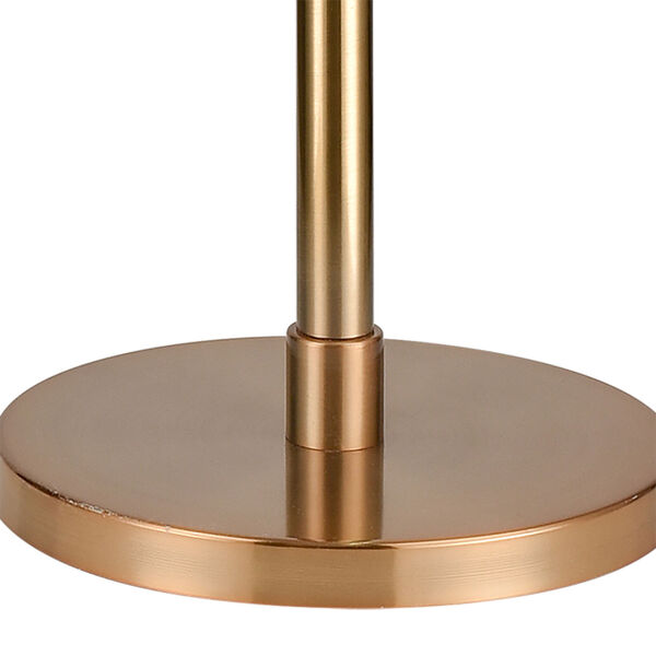 Decker Gold Aged Brass Black One-Light Floor Lamp, image 4