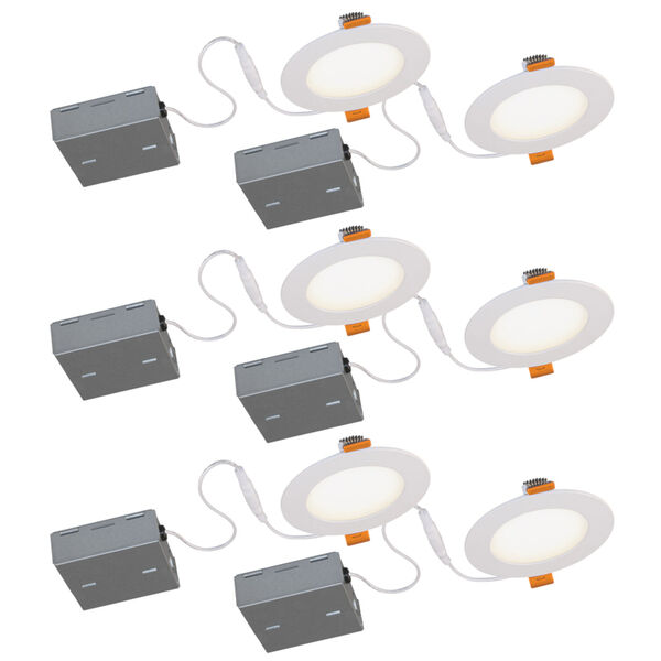 JIB Matte White Integrated LED Recessed Fixture Kit, Pack of 6, image 1