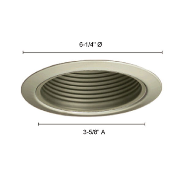 Satin Chrome 5-Inch Line Voltage Metal Step Baffle Trim, image 3