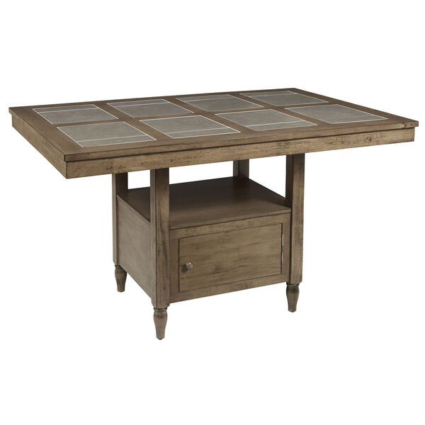 Keystone Weathered Pecan and Gray Counter Table, image 1