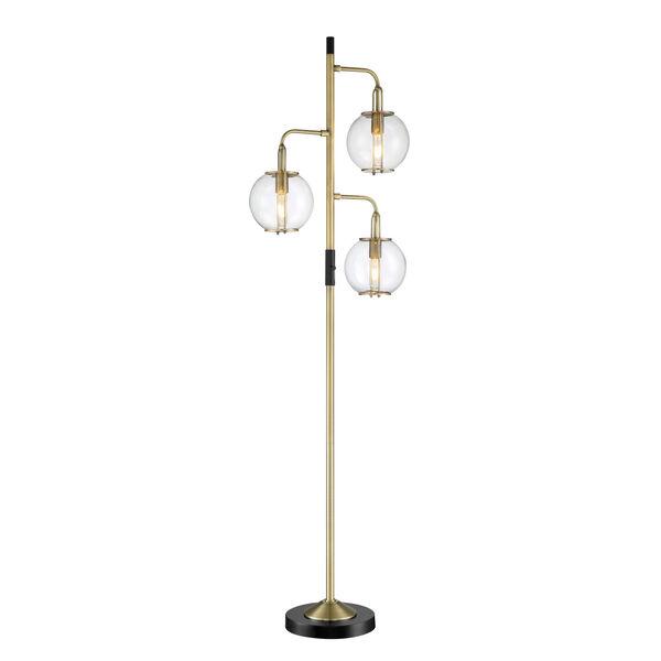 Kaira Black Three-Light Floor Lamp, image 1