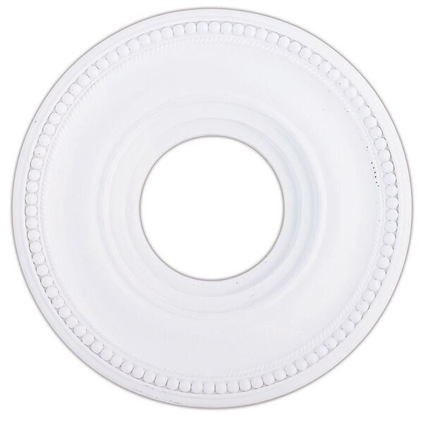Wingate White 12-Inch Ceiling Medallion, image 1
