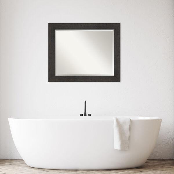 Espresso Frame 33W X 27H-Inch Bathroom Vanity Wall Mirror, image 3