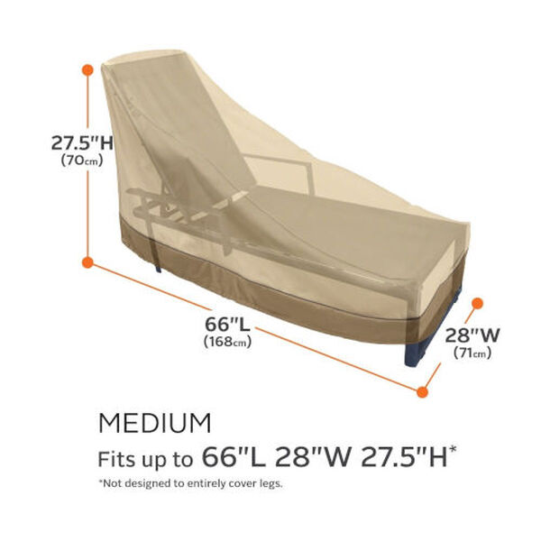 Ash Beige and Brown Patio Chaise Lounge Cover, Set of 2, image 4