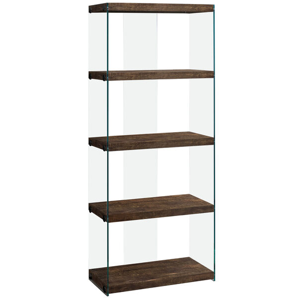 Brown 12-Inch Bookcase, image 1