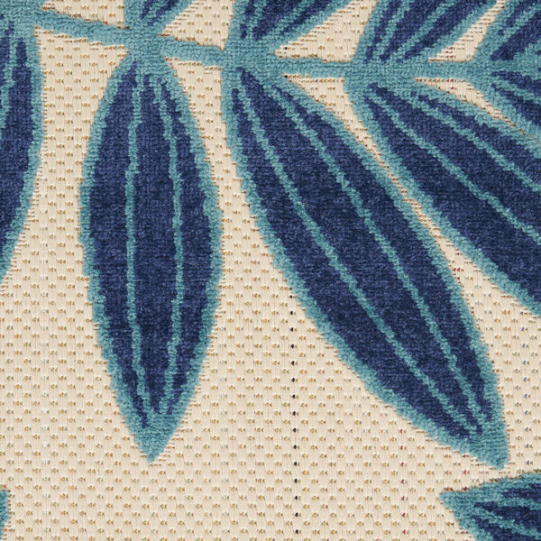 Aloha Navy Blue and White 6 Ft. x 9 Ft. Rectangle Indoor/Outdoor Area Rug, image 6