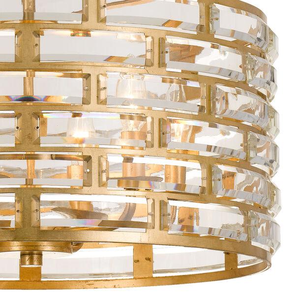 Meridian Six-Light Antique Gold Chandelier, image 2