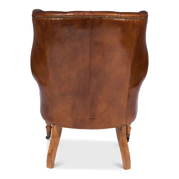 Brown Welsh Leather Chair, image 9