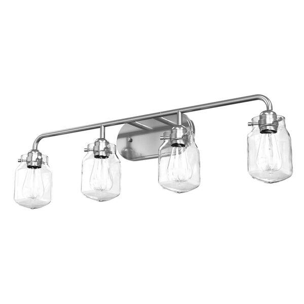 Lexington Chrome Four-Light Bath Vanity with Clear Glass, image 1
