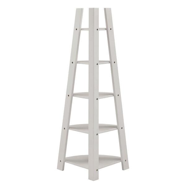 Roark White Corner Ladder Bookcase, image 4