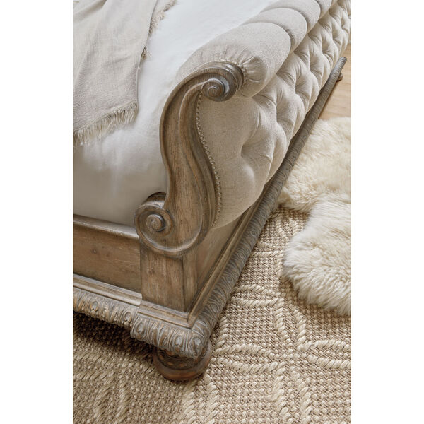 Castella Brown Tufted Bed, image 2