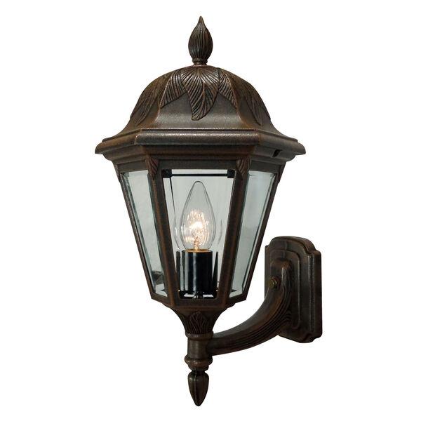 Floral Copper Medium Bottom Mount Light – Short Tail, image 1