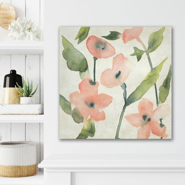 Blush Pink Blooms I Gallery Wrapped Canvas, image 1