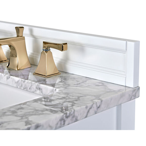 Adeline White 36-Inch Vanity Console with Farmhouse Sink, image 2