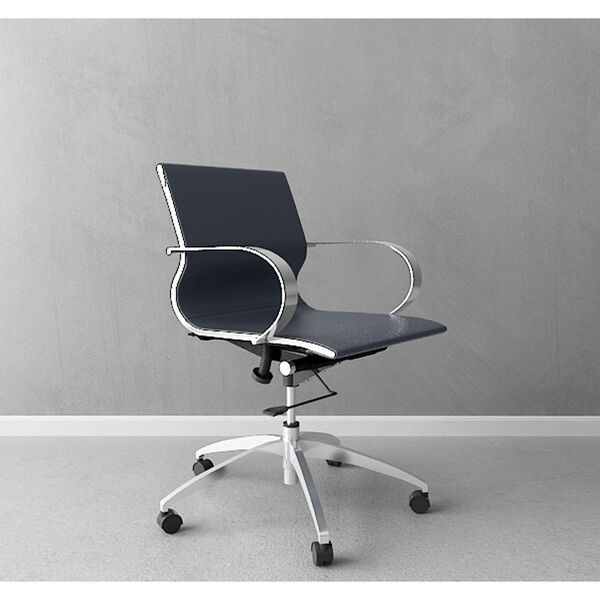 Glider Low Back Office Chair Black, image 5