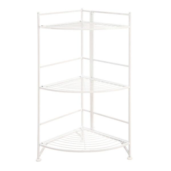3 Tier Corner Folding Metal Corner Shelf, image 1
