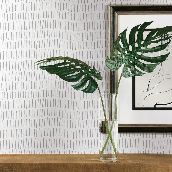Tick Mark Gray Peel and Stick Wallpaper, image 3